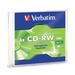 Verbatim CD-RW 700MB 2X-4X with Branded Surface - 1pk Slim Case