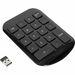 Targus Wireless Stow & Go Numeric Keypad - Wireless Connectivity - 33 ft (10058.40 mm) - USB Interface - Black, Gray
