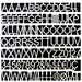 """MasterVision Letters/Numbers/Symbols Set - 0.75"""" (19.1 mm) Height - White - 1 / Set"""