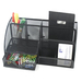 "Winnable Desk Caddy - 7 Compartment(s) - 5"" Height x 11"" Width x 5"" Depth - Desktop - Black - 1 Each"