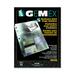 "Gemex Business Card Holder - 20 x Card Capacity - For Letter 8 1/2"" x 10 63/64"" Sheet - Ring Binder - Rectangular - Clear - Polypropylene - 5 / Pack"