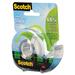 "Scotch Magic Greener Tape - 16.7 yd (15.2 m) Length x 0.75"" (19.1 mm) Width - Dispenser Included - 1 Each - Clear"