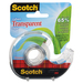 """Scotch Eco-Friendly Transparent Greener Tape - 16.6 yd (15.2 m) Length x 0.75"""" (19 mm) Width - Dispenser Included - Clear"""