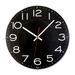 Artistic Wall Clock - Analog - Quartz - Black Main Dial - Black