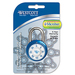 Acme United Combination Padlock - Cut Resistant - Steel Shackle - Assorted - 1 Each
