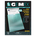 """Gemex Vinyl File Pocket - 3"""" x 5"""" - Vinyl - Clear - 10 / Pack"""