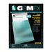 "Gemex Letter Vinyl File Pocket - 8 1/2"" x 11"" - Vinyl - Clear - 10 / Pack"
