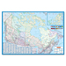 "CCC Laminated Detailed Canada Wall Map - 48"" (1219.20 mm) Width x 33"" (838.20 mm) Height"