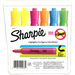 Sharpie Accent Highlighter - Tank - Chisel Marker Point Style - Fluorescent Yellow, Yellow, Fluorescent Green, Fluorescent Orange, Fluorescent Pink, Blue - 6 / Set