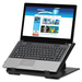 """Exponent Microport Laptop Riser - 7.50 kg Load Capacity - 17.72"""" (450 mm) Height x 12.60"""" (320 mm) Width x 12.40"""" (315 mm) Depth - Black"""