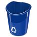 Ellypse Linkable Recycling Bin - 30 L Capacity - Polypropylene - Blue - 1 Each
