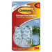 Command Clear Medium Hooks with Clear strips - 2 Medium Hook - 907.2 g Capacity - Clear, Clear - 2 / Pack
