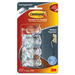 3M Cord Clips, Medium, 5 Adhesive Strips, 4/PK, Clear - 1 Pack