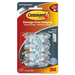 3M Cord Clips, Small, 12 Adhesive Strips, 8/Pack, Clear - 1 Pack