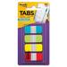 "Post-it® Durable Filing Tabs - 40 Write-on Tab(s) - 1.50"" Tab Height x 0.62"" Tab Width - Assorted Tab(s) - 40 / Pack"