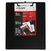 """Duraply """"Stay Clean"""" Clipboards - 8 1/2"""" x 11"""" - Poly - Black - 1 Each"""