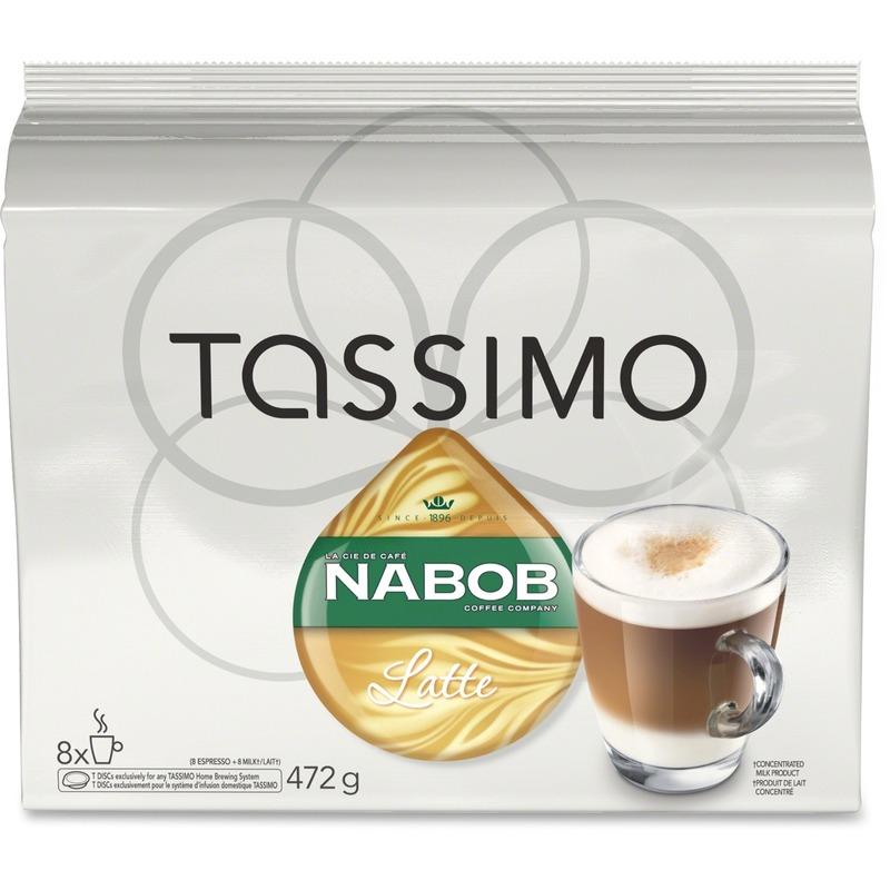 Tassimo Pods Nabob Latte Coffee Pods - 8/Box