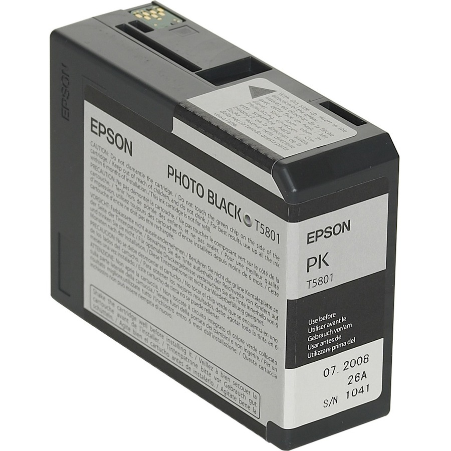 Epson UltraChrome T5801 Ink Cartridge - Photo Black