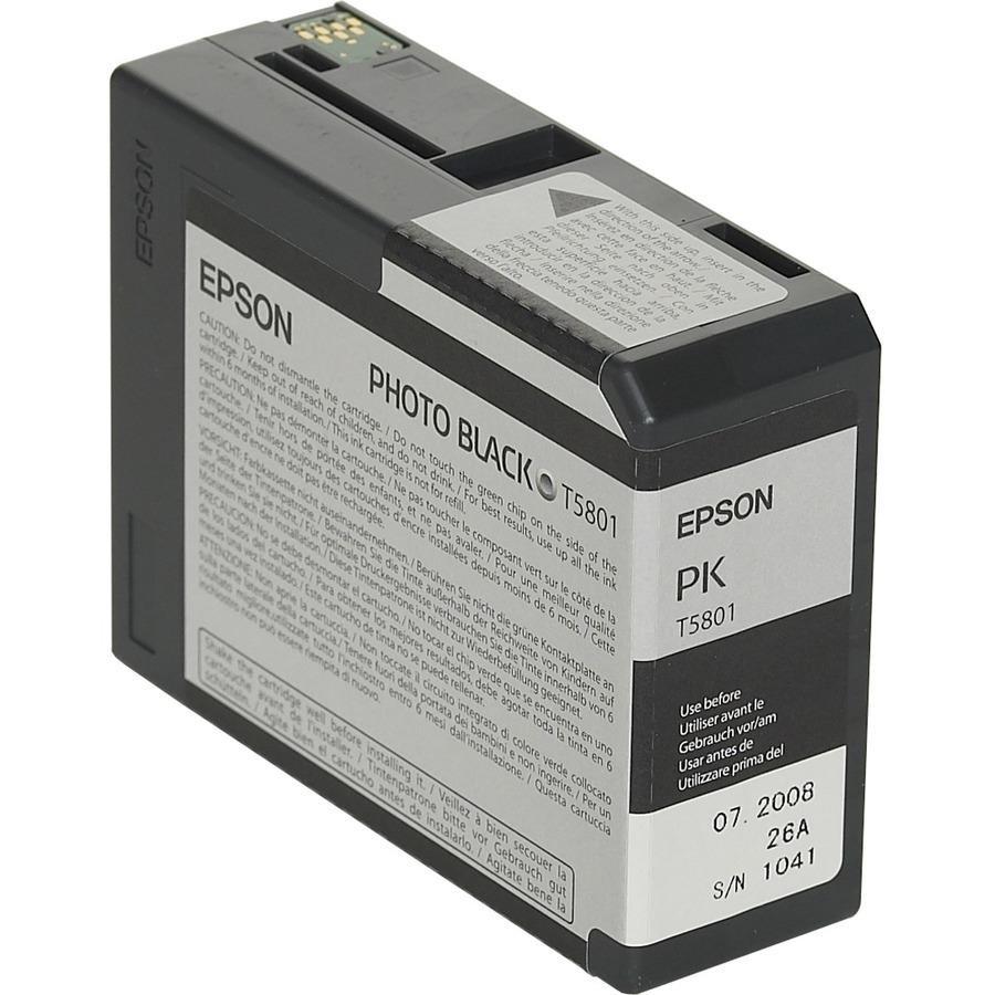 Epson UltraChrome T5801 Ink Cartridge - Photo Black