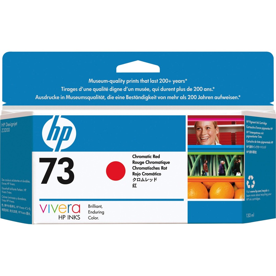 HP No. 73 Ink Cartridge - Red