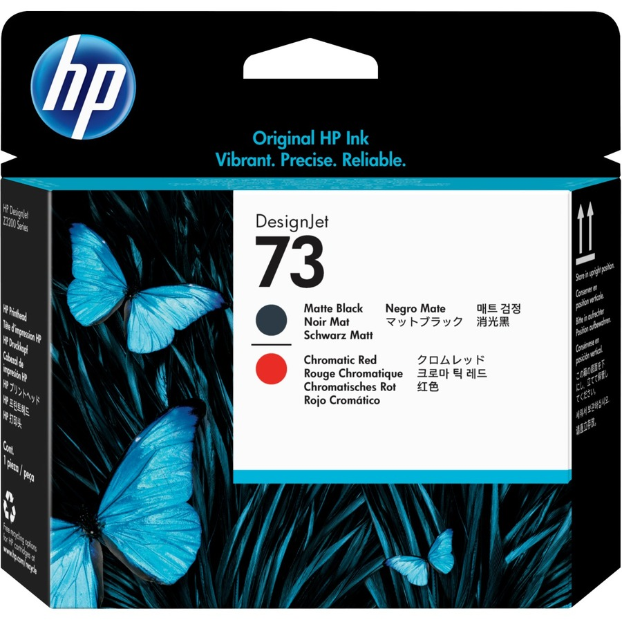 HP No. 73 Ink Cartridge - Matte Black, Red