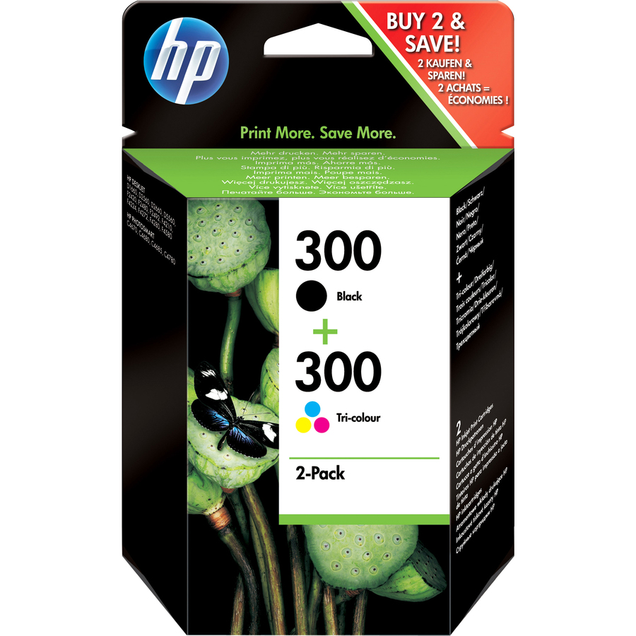HP No.300 Ink Cartridge - Cyan, Magenta, Yellow, Black