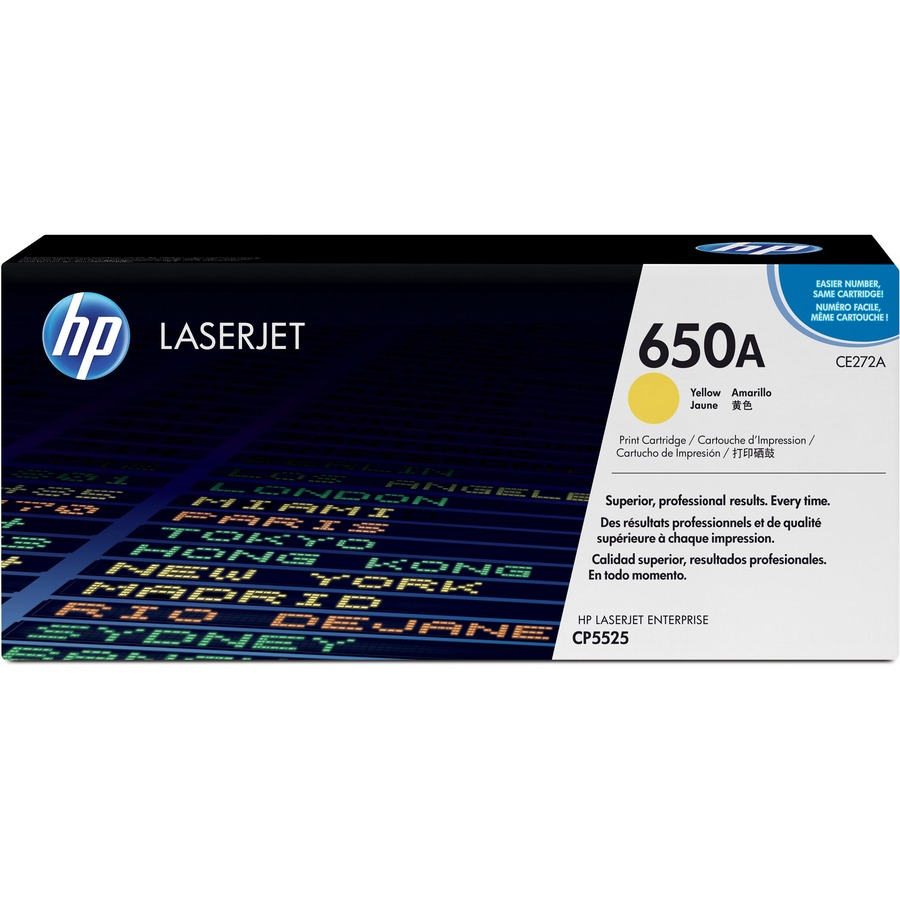 HP 650A Toner Cartridge - Yellow