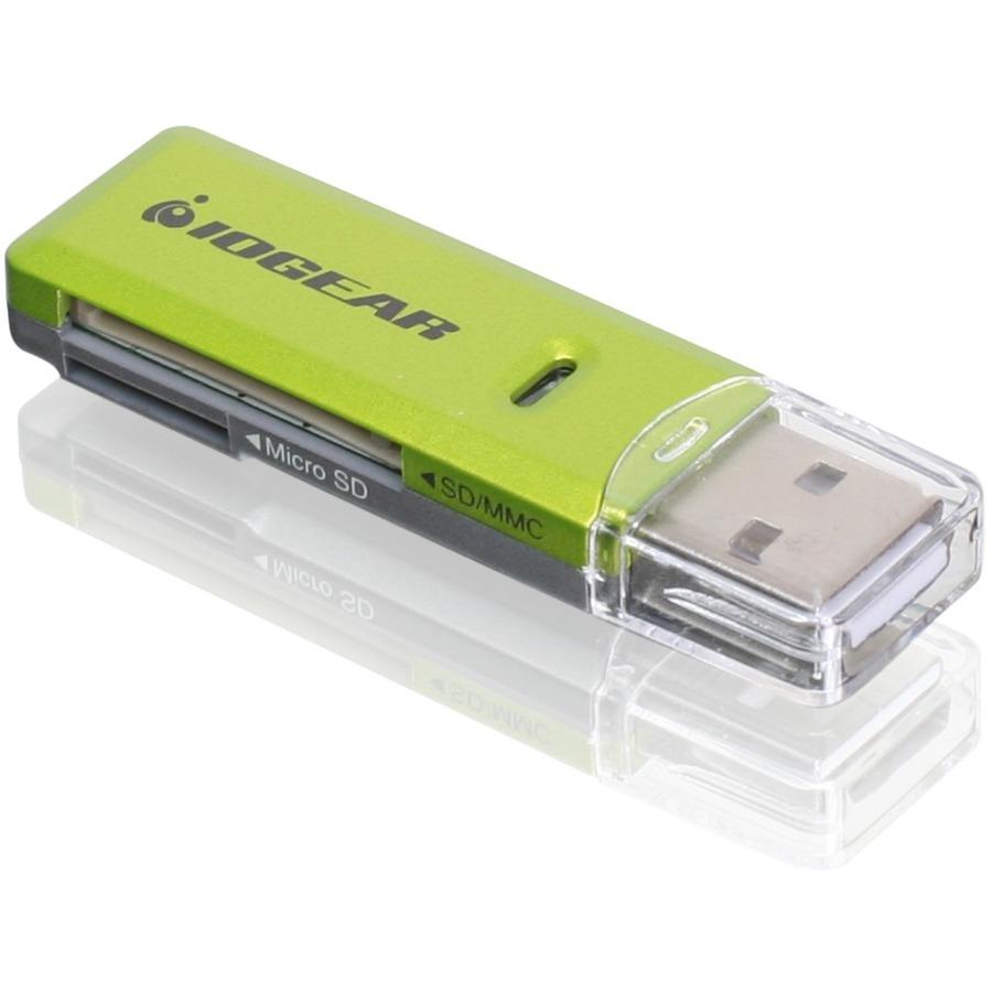 IOGEAR GFR204SD Flash Reader - SD, microSD, MultiMediaCard (MMC), SDXC