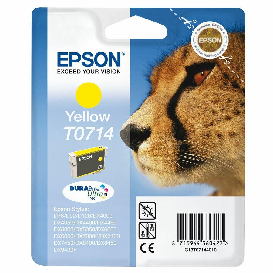 Epson DURABrite Ultra T0714 Ink Cartridge - Yellow