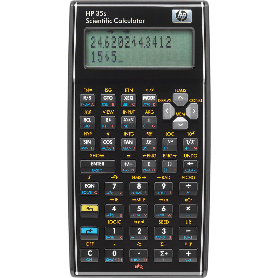 HP 35s Scientific Calculator - 30 KB - 2 Line(s) - 14 Digits - LCD - Battery Powered