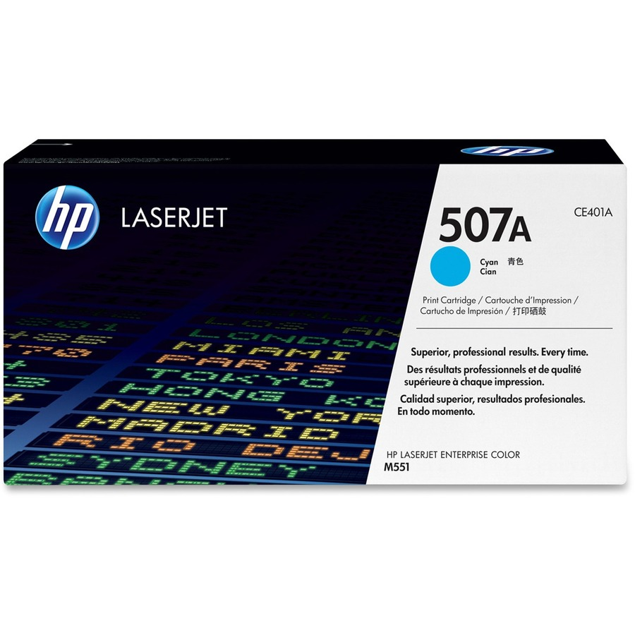 HP 507A Toner Cartridge - Cyan - Laser - 6000 Page - 1 Pack