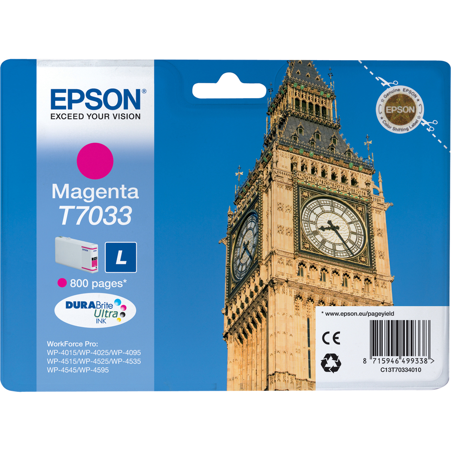 Epson DURABrite Ultra C13T70334010 Ink Cartridge - Magenta