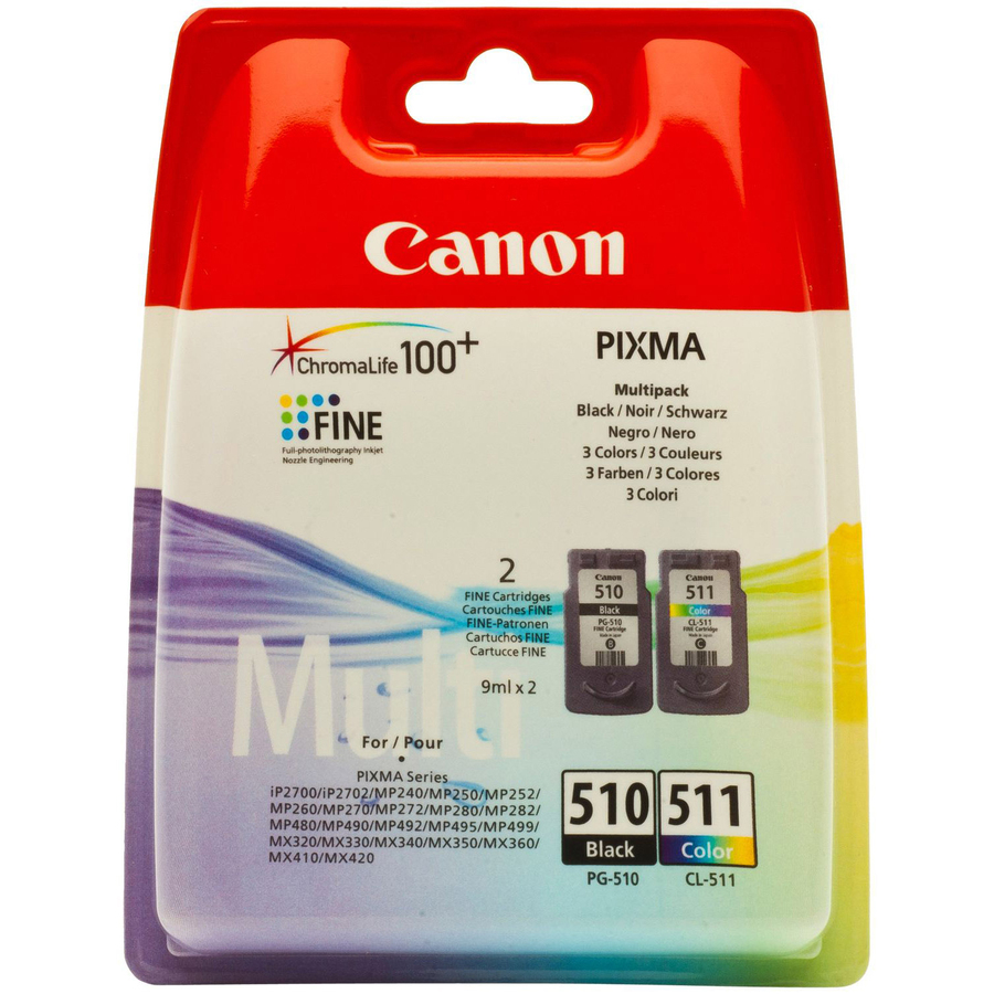 Canon Ink Cartridge - Black, Colour - Inkjet - 220 Page Black, Page Colour - 2 / Pack