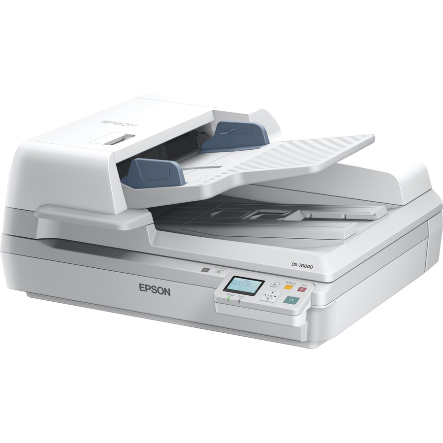 Epson WorkForce DS-70000N Sheetfed Scanner - 9600 dpi Optical - 48-bit Color - 24-bit Grayscale - 70 ppm Mono - 70 ppm Color - Ethernet