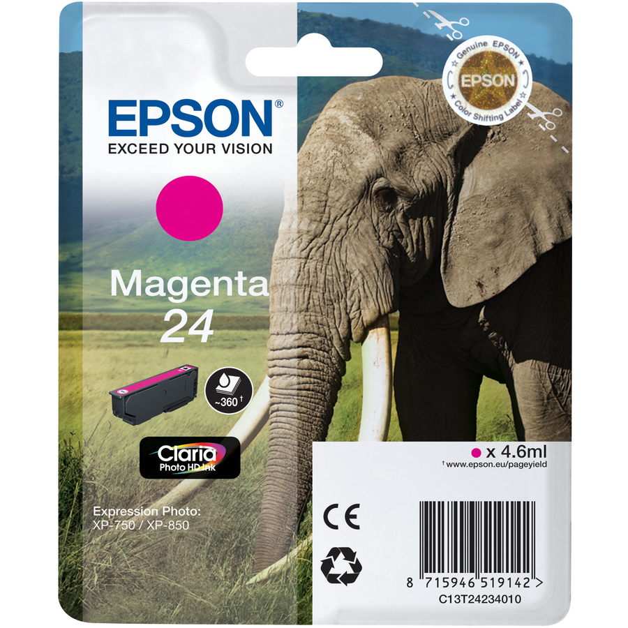 Epson Claria 24 Ink Cartridge - Magenta