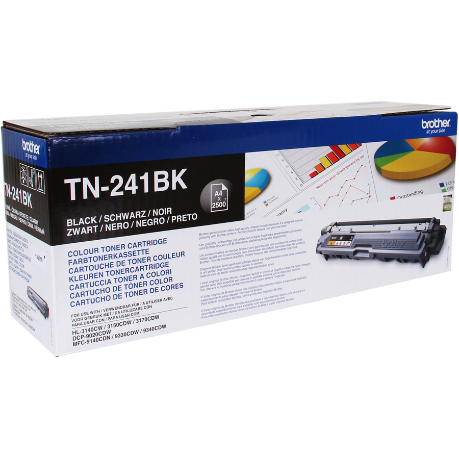 Brother Toner Cartridge - Black - LED - 2500 Page