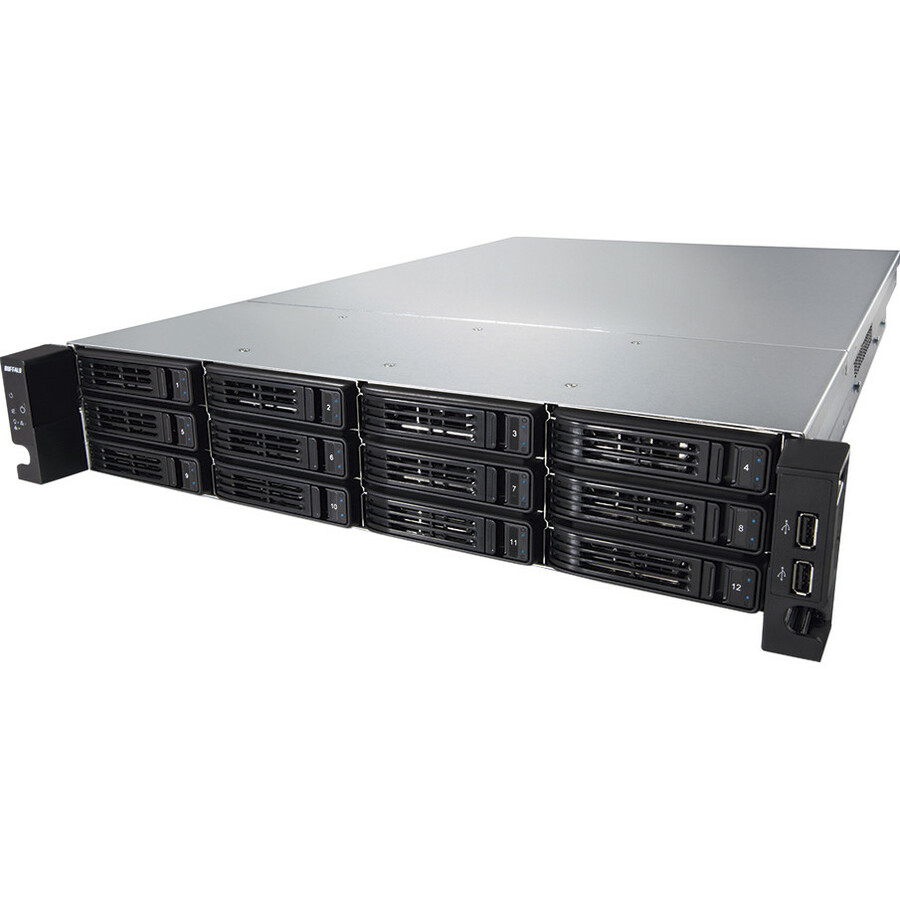Buffalo TeraStation TS-2RZH36T12D-EU 12 x Total Bays NAS Server - 2U - Rack-mountable - 1 x Intel Xeon E3-1275 Quad-core 4 Core 3.40 GHz - 36 TB HDD 12 x 3 TB -
