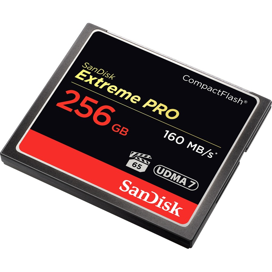 SANDISK Extreme Pro 256 GB CompactFlash - 160 MB/s Read - 140 MB/s Write - 1 Card/1 Pack