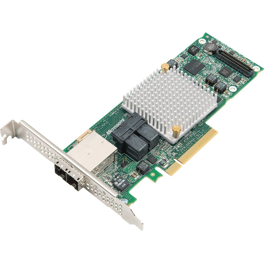 MICROSEMI ADAPTEC SAS Controller - 12Gb/s SAS - PCI Express x8 - Plug-in Card - RAID Supported