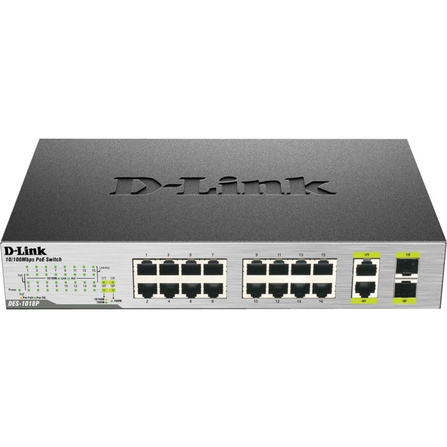 D-Link DES-1018P 18 Ports Ethernet Switch