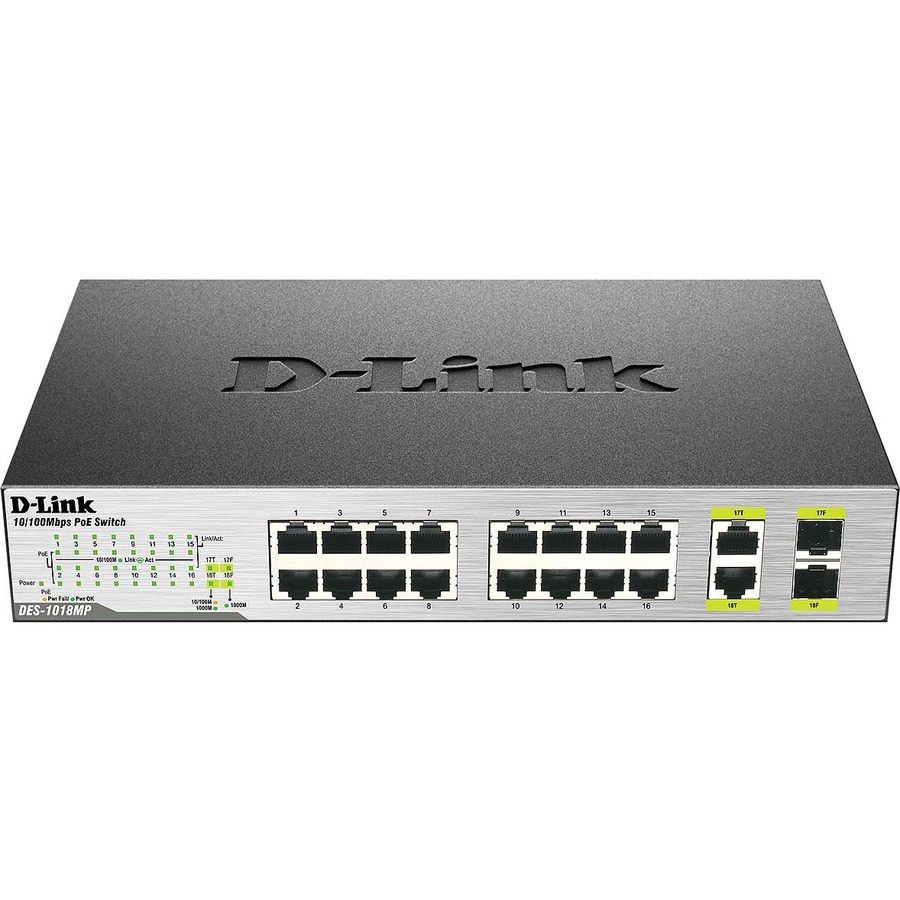 D-Link DES-1018MP 18 Ports Ethernet Switch