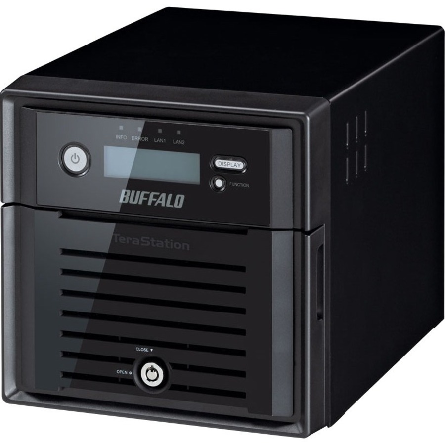 Buffalo TeraStation TS5200DWR 2 x Total Bays NAS Server - 1 x Intel Atom D2550 Dual-core 2 Core 1.86 GHz - 8 TB HDD - 2 GB RAM DDR3 SDRAM - Serial ATA/300 - RAID S