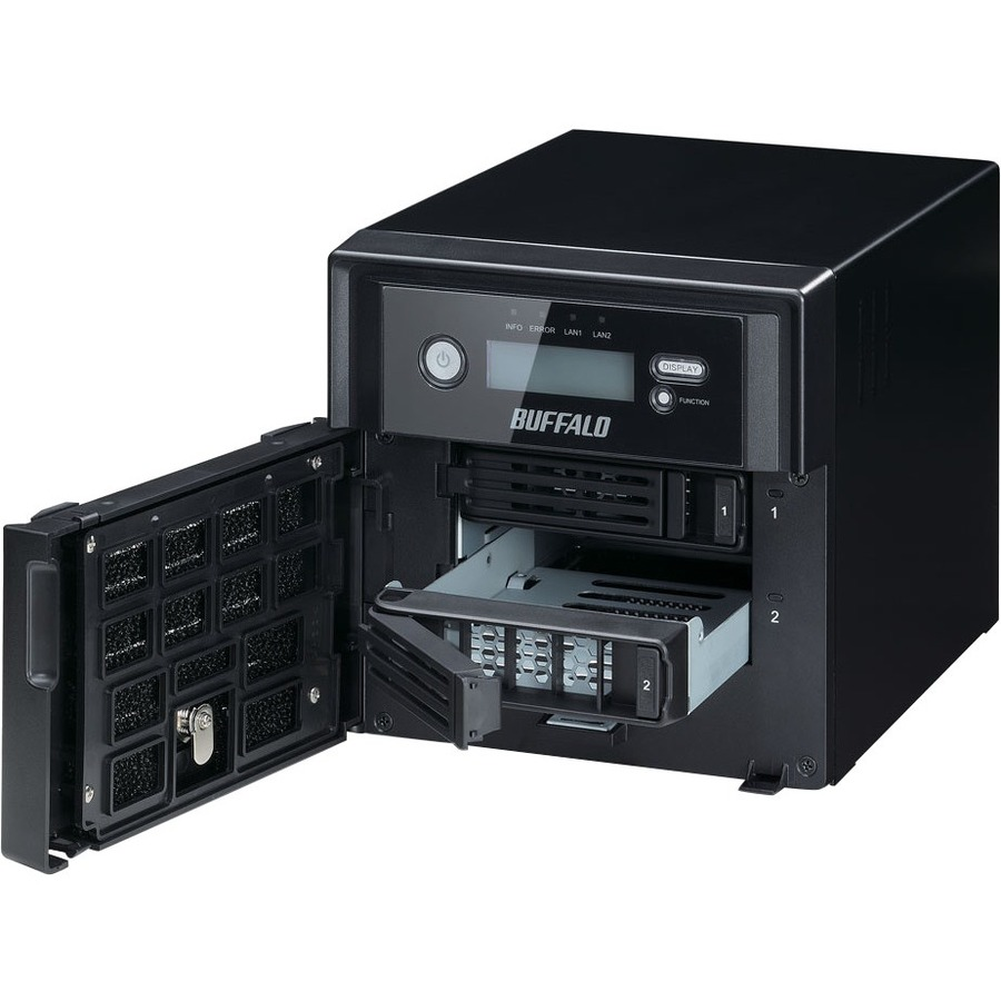 Buffalo TeraStation WS5200DRW2 2 x Total Bays NAS Server - 1 x Intel Atom D2550 Dual-core 2 Core 1.86 GHz - 4 TB HDD - 4 GB RAM DDR3 SDRAM - Serial ATA/300 - RAID