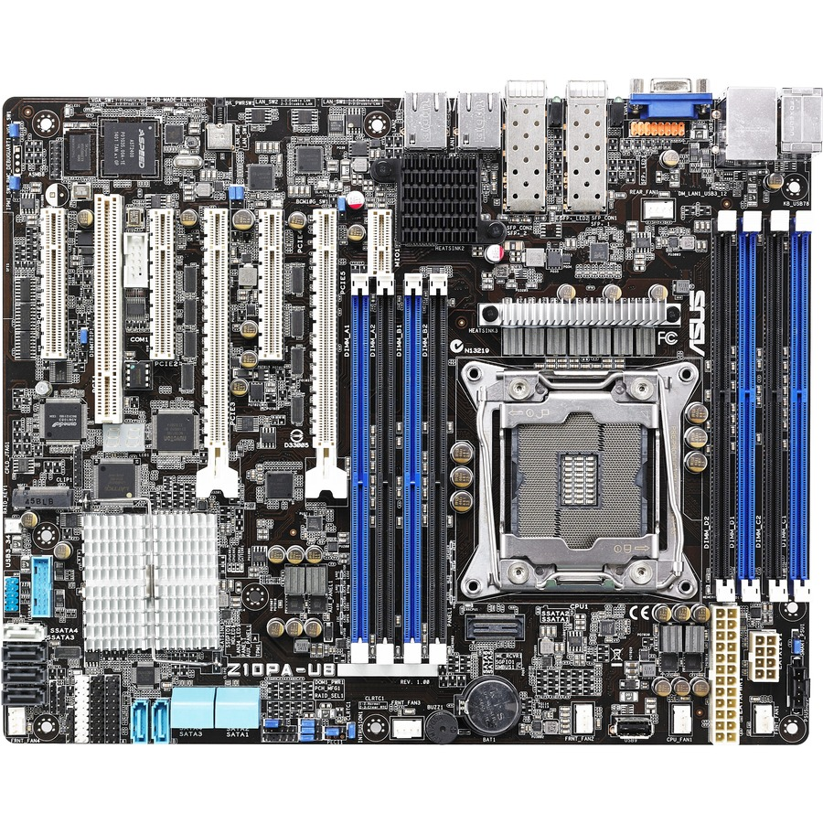 Asus Z10PA-U8 Server Motherboard - Intel C612 Chipset - Socket LGA 2011-v3 - ATX - 1 x Processor Support - 512 GB DDR4 SDRAM Maximum RAM - 2.13 GHz Memory Speed Supp