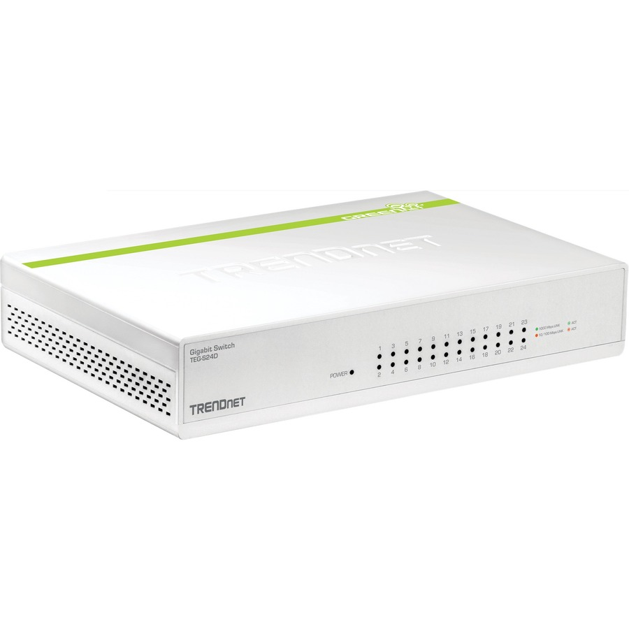 TRENDNET GREENnet TEG-S24D 24 Ports Ethernet Switch - 2 Layer Supported