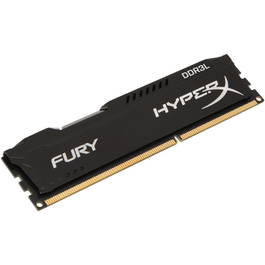 Kingston HyperX Fury RAM Module - 4 GB 1 x 4 GB - DDR3L SDRAM - 1600 MHz - 1.35 V