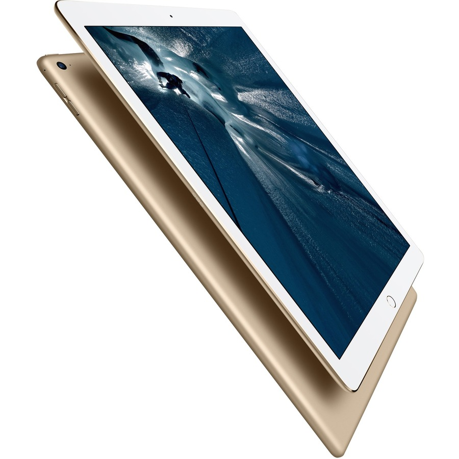 Apple iPad Pro Tablet - 32.8 cm 12.9inch - Apple A9X - 128 GB - iOS 9 - Retina Display - 4G - CDMA2000, GSM Supported - Gold - Wireless LAN - Bluetooth - WWAN Support