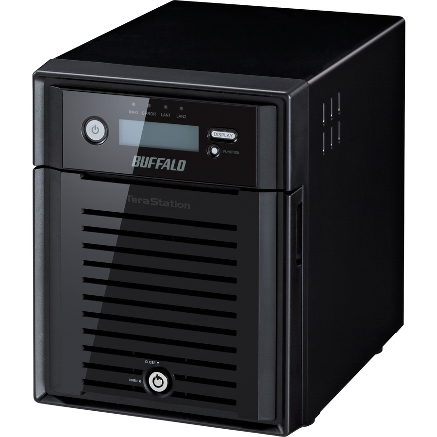 Buffalo TeraStation 4 x Total Bays NAS Server - 1 x Intel Atom D2550 Dual-core 2 Core 1.86 GHz - 24 TB HDD - 2 GB RAM DDR3 SDRAM - Serial ATA/300 - RAID Supported
