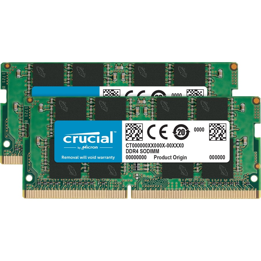 Crucial RAM Module - 32 GB - DDR4 SDRAM - 2400 MHz DDR4-2400/PC4-19200 - 1.20 V - Unbuffered - CL17 - 260-pin - SoDIMM