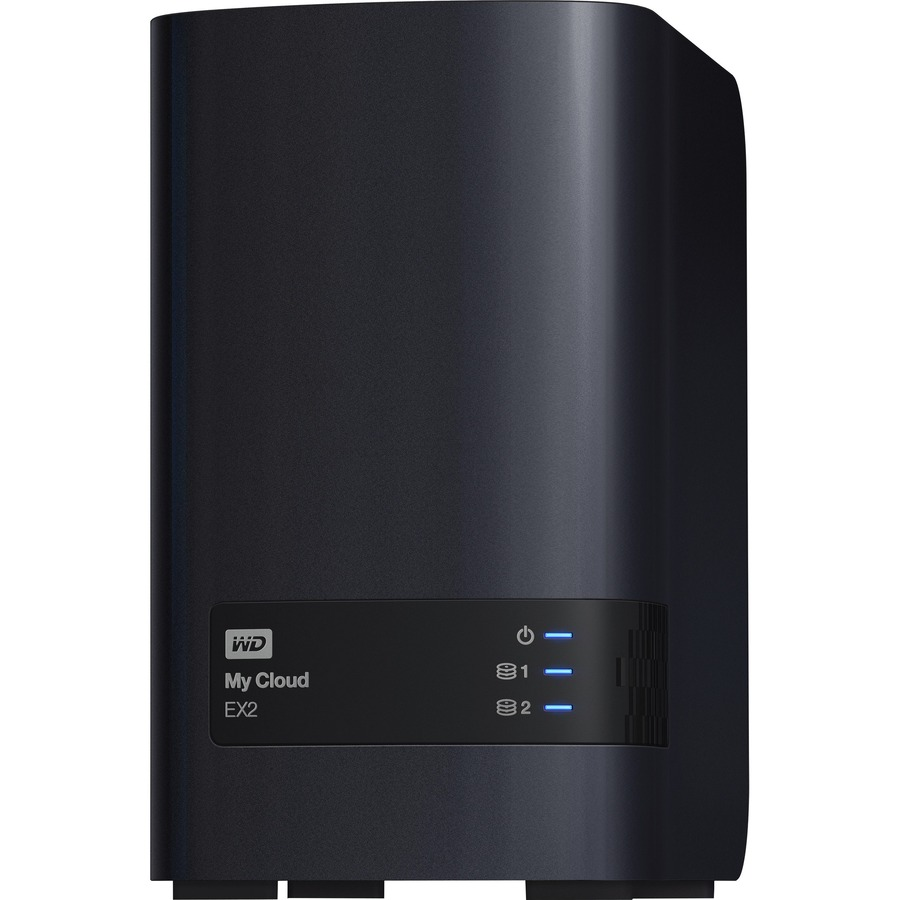 WD My Cloud EX2 WDBVBZ0120JCH-EESN 2 x Total Bays NAS Server - Tower